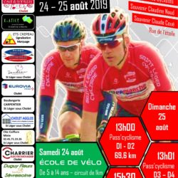 Courses cyclistes les 24 et 25 août 2019