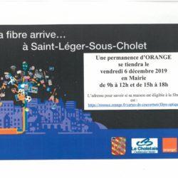Permanence d'ORANGE le 6 décembre prochain en Mairie.