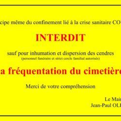 ACCÈS INTERDIT AU CIMETIÈRE