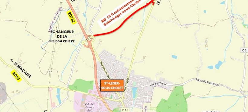 TRAVAUX RD 15 ST LEGER- LE MAY SUR EVRE : ROUTE BARRÉE du 9 au 27 novembre