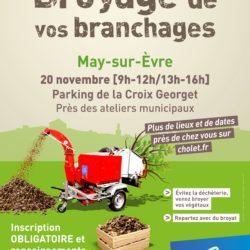 BROYAGE Déchets verts sur inscription : samedi 20 novembre au May sur Evre