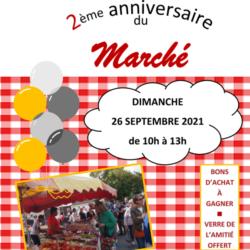 2ème Anniversaire du Marché de St Léger : Dimanche 26 septembre 2021