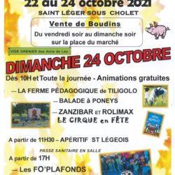 FÊTE DU BOUDIN, DIMANCHE 24 OCTOBRE 2021