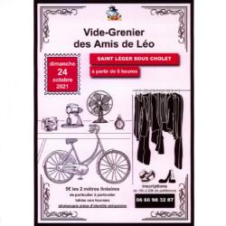 VIDE-GRENIER DES AMIS DE LÉO, DIMANCHE 24 OCTOBRE 2021. PORT DU MASQUE OBLIGATOIRE.